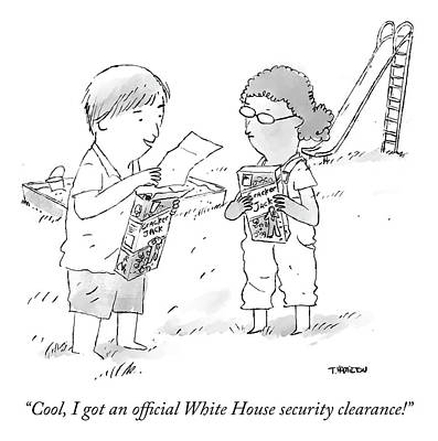 Drawing - Security Clearance by Tim Hamilton