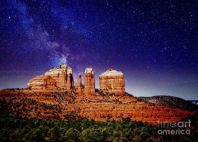 Photograph - Sedona After Dark by Scott Kemper