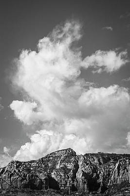 Photograph - Sedona Landscape Xxxvii Bw by David Gordon