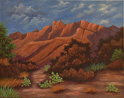 Painting - Sedona Mountains  by Gloria Johnson