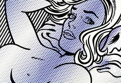 Photograph - Seductive Girl By Roy Lichtenstein by Doc Braham - In Tribute to Roy Lichtenstein