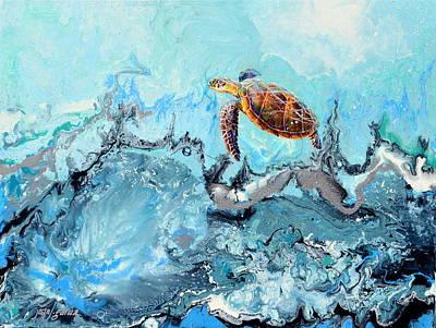 Painting - See Turtle by Joan Garcia
