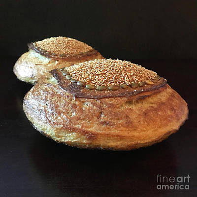 Art Print featuring the photograph Seeded White And Rye Sourdough 2 by Amy E Fraser