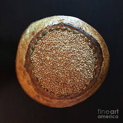 Art Print featuring the photograph Seeded White And Rye Sourdough by Amy E Fraser