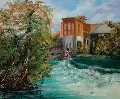 Painting - Seguin Hydro Power Plant by Cheryl Damschen