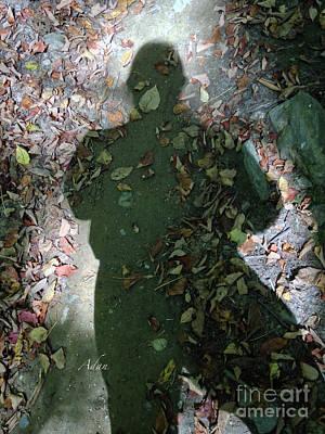 Roaring Red - Self Portrait 17 - Shadow Selfie by Felipe Adan Lerma