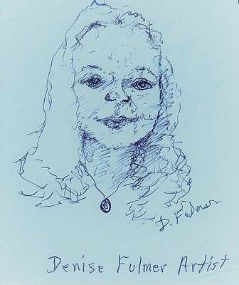 Drawing - Self Portrait 2018 by Denise Fulmer
