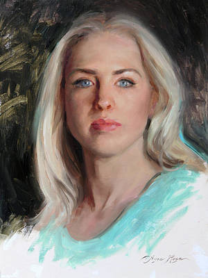 Painting - Self Portrait 2019 by Anna Rose Bain