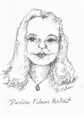 Drawing - Self Portrait 2019 by Denise Fulmer