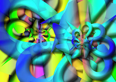 Digital Art - Selon Remix Three by Vitaly Mishurovsky