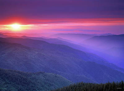 Photograph - Selway Sunrise by Leland D Howard