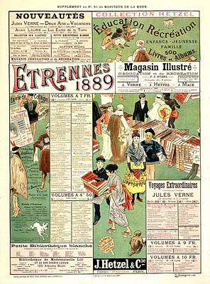 Mixed Media - Semeghini Defendi 1889 Vintage French Advertising by Vintage French Advertising