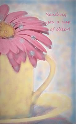 Digital Art - Sending You A Cup Of Cheer by Angela Davies
