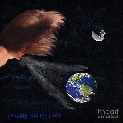 Digital Art - Sending You My Love by Jeff Breiman