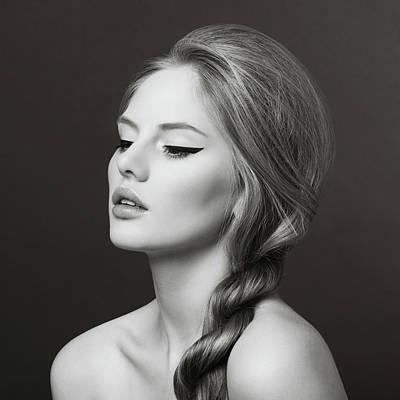 Eyes Closed Photograph - Sensual Blonde Woman by Lambada