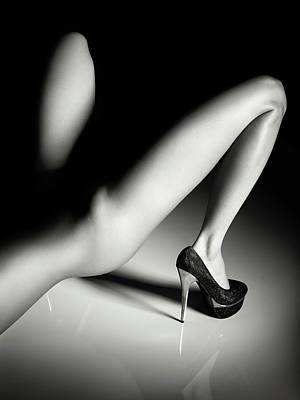 Vintage Chrysler - Sensual legs in high heels by Johan Swanepoel