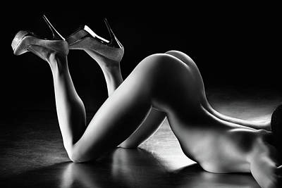 Figurative Photograph - Sensual Nude Body Curves by Johan Swanepoel