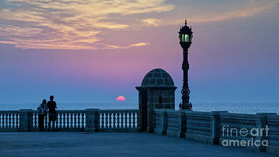 Photograph - Sentry Box Sunset Cadiz Spain by Pablo Avanzini