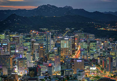 Photograph - Seoul At Night by Rick Berk