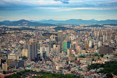 Photograph - Seoul In Afternoon Light by Rick Berk