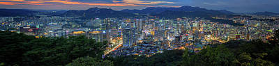 Photograph - Seoul South Korea Panorama by Rick Berk