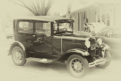 Photograph - Sepia Model A by Bill Dutting