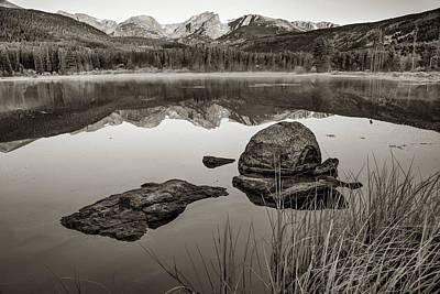 Photograph - Sepia Sunrise Over Sprague Lake - Rocky Mountain National Park by Gregory Ballos