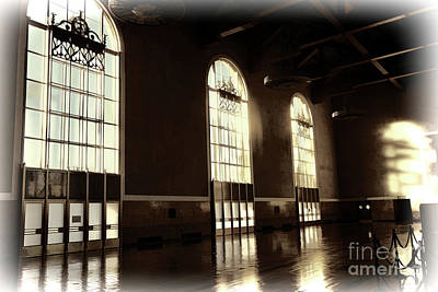 Digital Art - Sepia Tone Interior La Union Station  by Chuck Kuhn