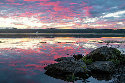 Photograph - September Dawn At Esopus Meadows I - 2018 by Jeff Severson