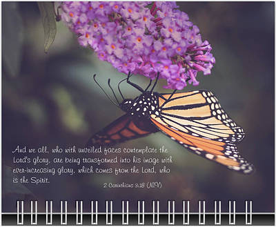 Photograph - September Inspirational 2019 Calendar Preview by Joni Eskridge