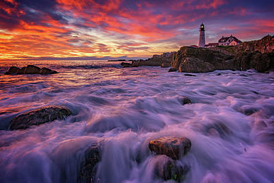 Royalty-Free and Rights-Managed Images - September Sunrise at Portland Head by Rick Berk
