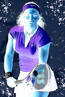 Athletes Royalty-Free and Rights-Managed Images - Serena - Ready to Go - Negative by Marlene Watson