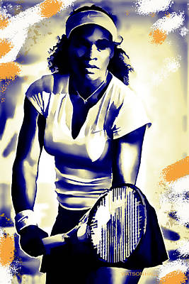 Athletes Royalty-Free and Rights-Managed Images - Serena Williams - Ready by Marlene Watson