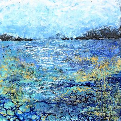Mixed Media - Serene Dream by Anne Stine