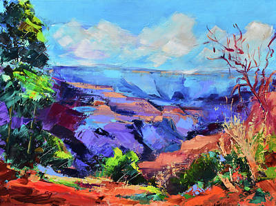 Painting - Serene Morning By The Canyon - Arizona by Elise Palmigiani