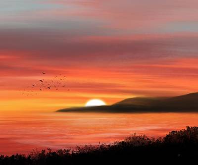 Digital Art - Serene Sunset by Mark Taylor