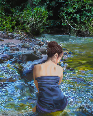 Painting - Serenity Springs by Debra Chmelina