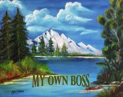 Painting - Serenity-My Own Boss by Julie Belmont