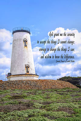 Photograph - Serenity Prayer Piedras Blancas Lighthouse Clouds 2 by Floyd Snyder