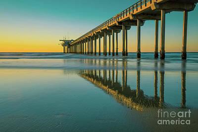 Photograph - Serenity Scripps Pier La Jolla San Diego by Edward Fielding