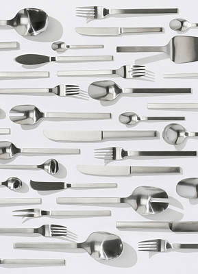 Photograph - Set Of Cutlery by Gregor Schuster