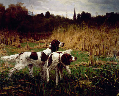 Painting - Setters Afield, Autumn By Percival by Superstock