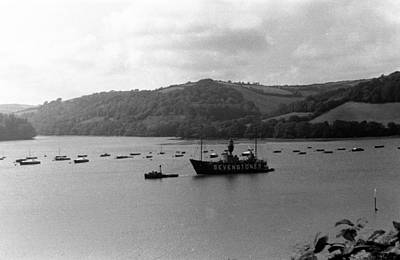 Painting - Sevenstones Lightship In The River Fal. by Celestial Images