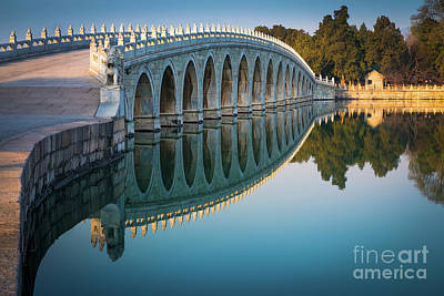 Photograph - Seventeen Arch Bridge by Inge Johnsson