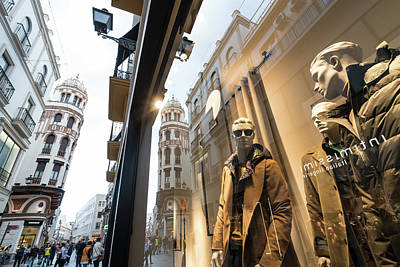 Art Print featuring the photograph Sevilla Streets by Alex Lapidus