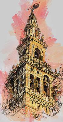 Painting - Seville, Giralda - 09  by Andrea Mazzocchetti