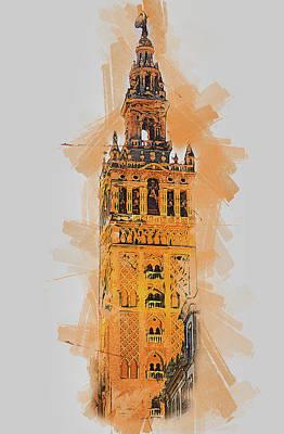Painting - Seville, Giralda - 10 by Andrea Mazzocchetti