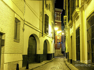 Photograph - Seville Night Alley by John Rizzuto