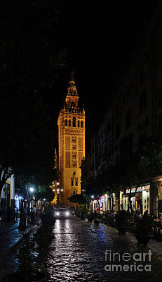 Photograph - Seville Streets And Giralda Tower by Angelo DeVal