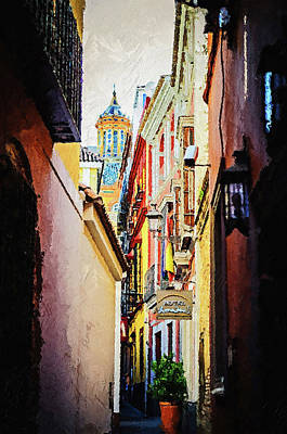 Painting - Seville, The Colorful Streets Of Spain - 04 by Andrea Mazzocchetti